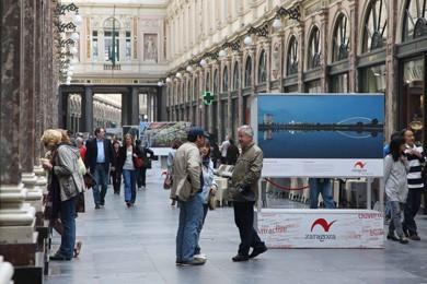 Zaragoza viste de Goya al Manneken Pis para promocionarse en la UE. ABC.es