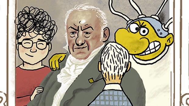 Detalle de 'Goya, María y Makoki', de Miguel Gallardo