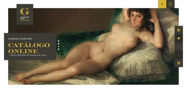 La Fundación Goya estrena nueva web, la única del mundo que reúne el catálogo completo de un autor