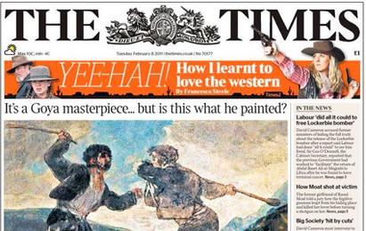 Goya, portada en 'The Times'. Heraldo de Aragón