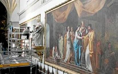 'Los desposorios', la obra en peor estado de Goya en Aula Dei, está ya restaurada. Heraldo de Aragón
