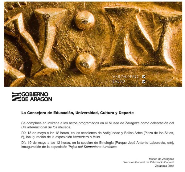 Día internacional de los museos. Museo de Zaragoza