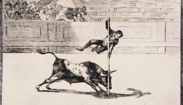 Una primera edición de 'La tauromaquia', de Goya, aparece en un castillo francés