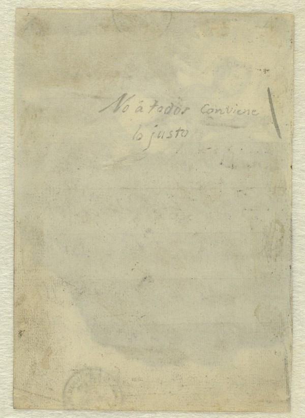 El Museo del Prado descubre un nuevo título manuscrito por Goya en un dibujo relacionado con la Justicia.