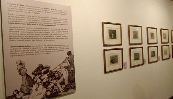 La sala Ibercaja de Logroño expone la primera edición de los 80 'Desastres de la guerra' de Goya.