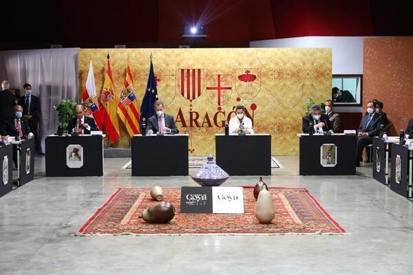 SS.MM. Los reyes de España inauguranlos actos del 275 aniversario de Goyaen Fuendetodos