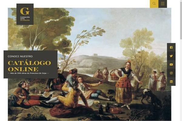 La Fundación Goya se renueva en internet