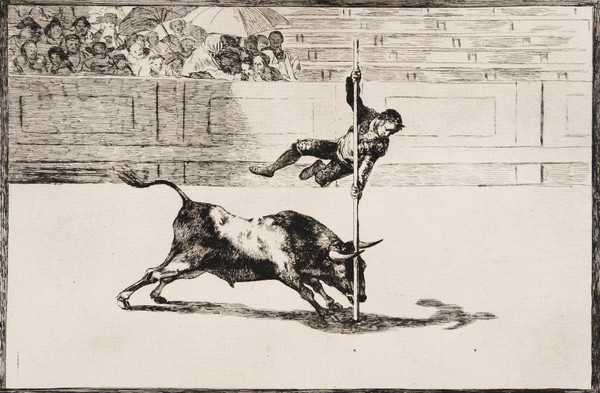 Santillana acoge una muestra de grabados de Goya sobre la tauromaquia