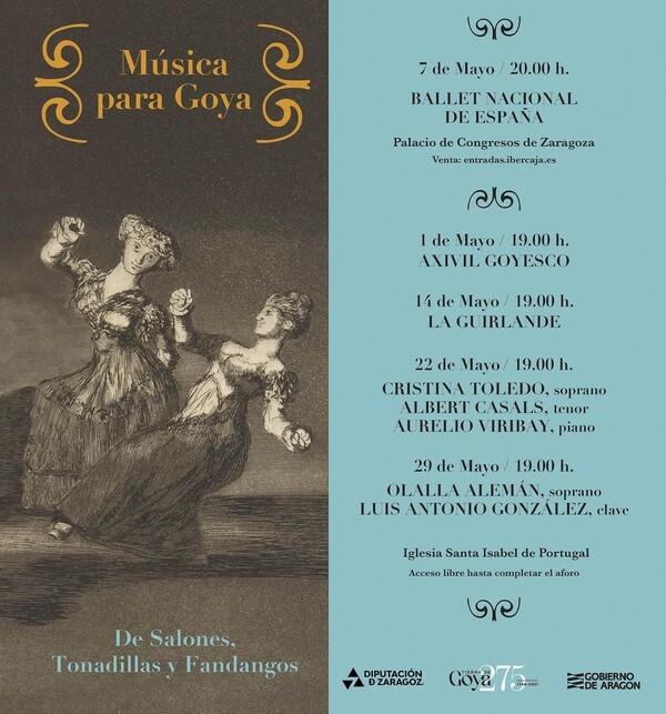 El Ballet Nacional vuelve a Zaragoza con motivo del aniversario de Goya