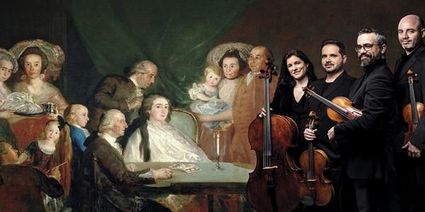 El Cuarteto Quiroga reivindicala música de cuatro compositores contemporáneos a Goya