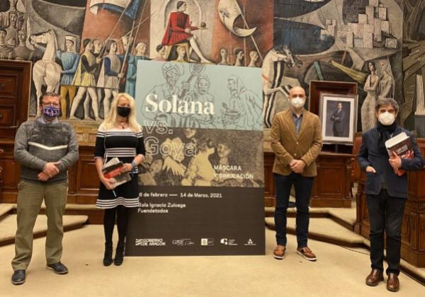 'Solana vs. Goya. Máscara y simulación' inicio del programa cultural en el año del 275 aniversario del nacimiento de Goya