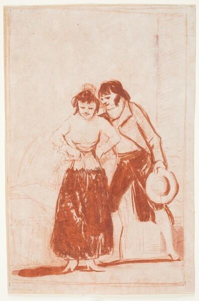 Hombre ayudando a una joven a desnudarse