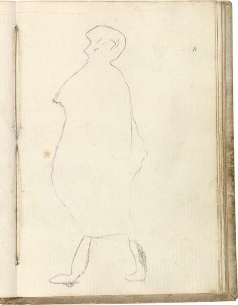 Contorno de figura de perfil (atribuido a Javier Goya)