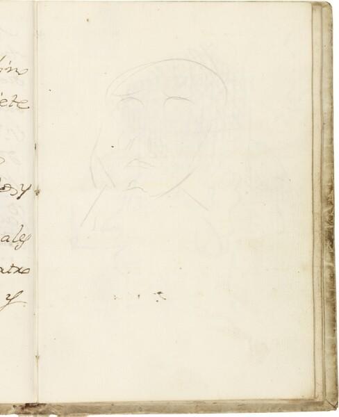 Tanteo de cabeza frontal (atribuido a Javier Goya)