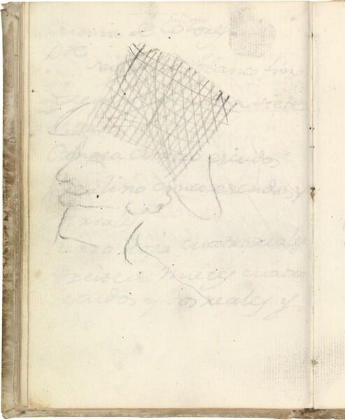 Cabeza de perfil con sombrero de copa alta (atribuido a Javier Goya)