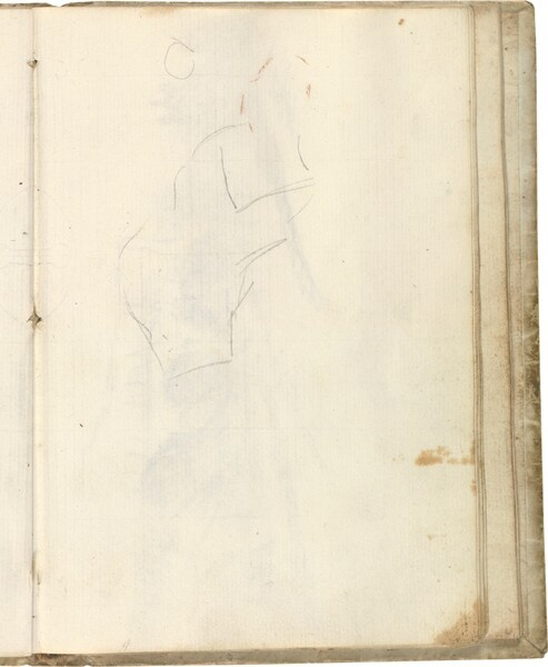 Silueta de figura parcial de perfil (atribuida a Javier Goya)