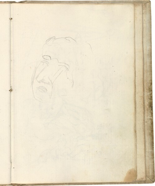 Tanteo de cabeza masculina de medio perfil (atribuido a Javier Goya)