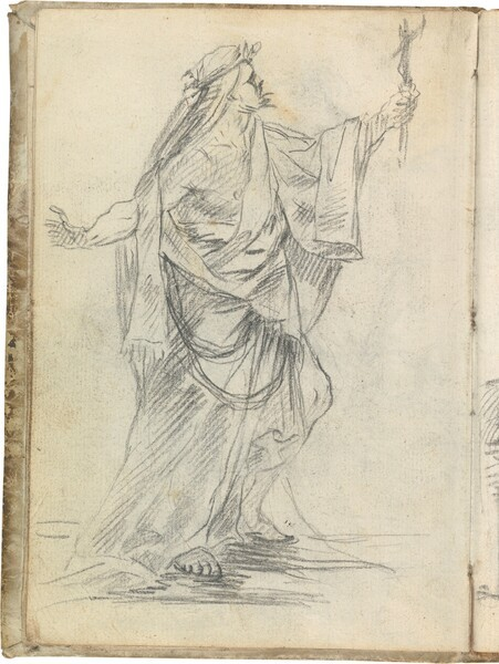 Sacerdote antiguo con crucifijo