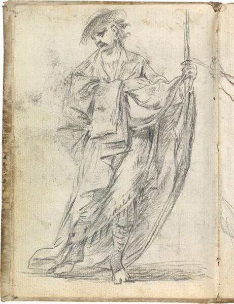 Figura masculina vestida a la antigua