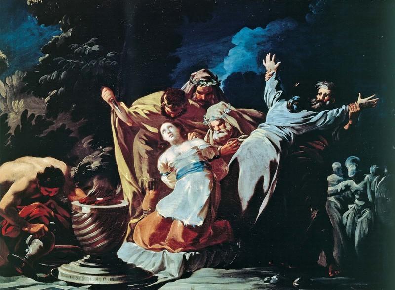 Sacrifice of Jephthah's Daughter (Sacrificio de la hija de Jefté)