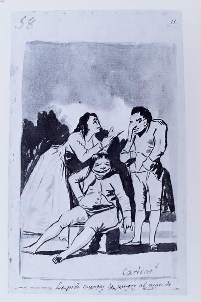 Caricaturas. Le pide cuentas la mujer al marido