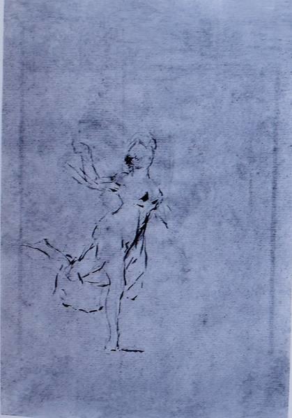 Mujer bailando (apunte)