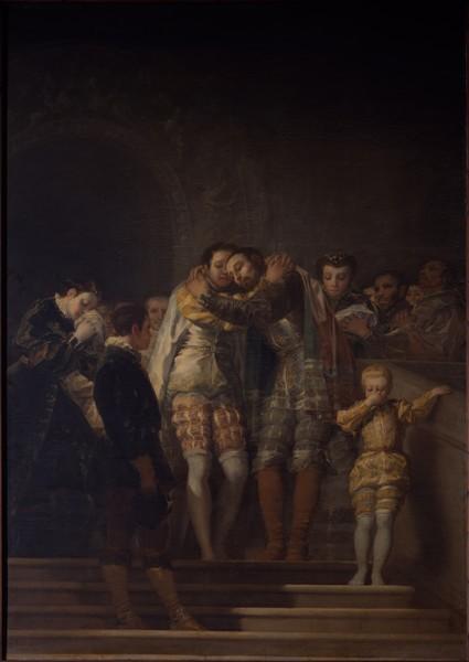 San Francisco de Borja despidiéndose de su familia