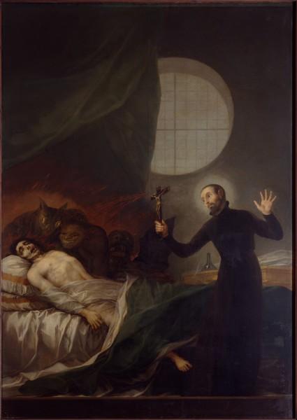 Saint Francis Borgia Assisting a Dying Man (San Francisco de Borja asistiendo a un moribundo)