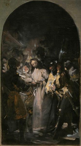 The Arrest of Christ (El prendimiento) (sketch)