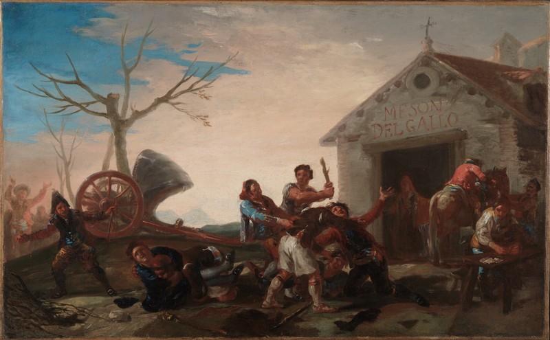 Quarrel at the Cockerel Inn (La riña en el Mesón del Gallo) (sketch)