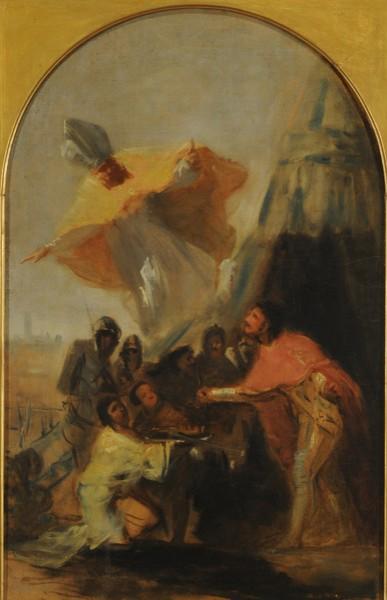 Apparition of Saint Isidore to Saint Ferdinand III (Aparición de San Isidoro a Fernando III el Santo) (sketch)