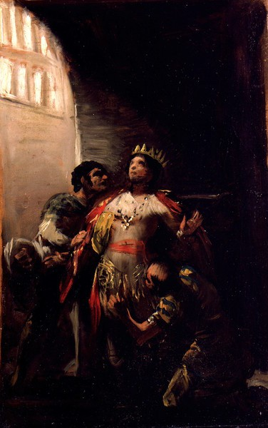 San Hermenegildo en la prisión (boceto)