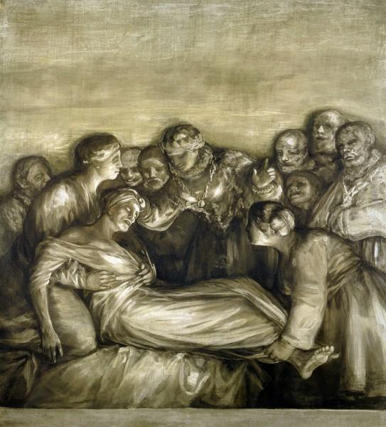 Santa Isabel de Portugal curando a una enferma