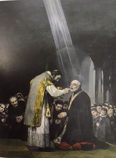 La ultima comunión de San José de Calasanz