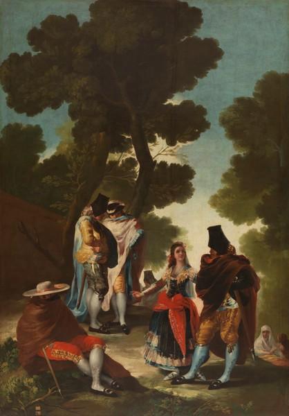 Maja and Cloaked Men (La maja y los embozados)