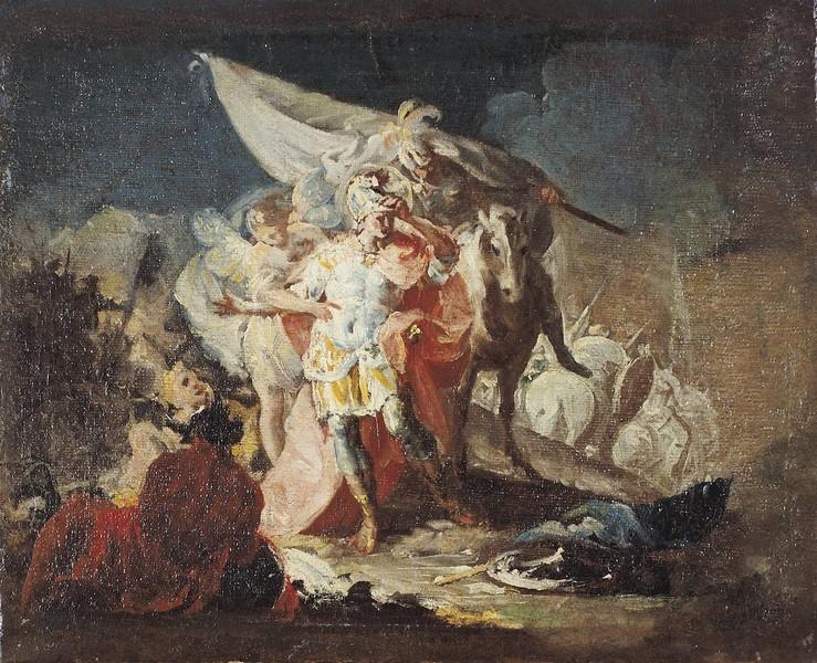 Aníbal vencedor, que por primera vez miró Italia desde los Alpes (boceto 1)