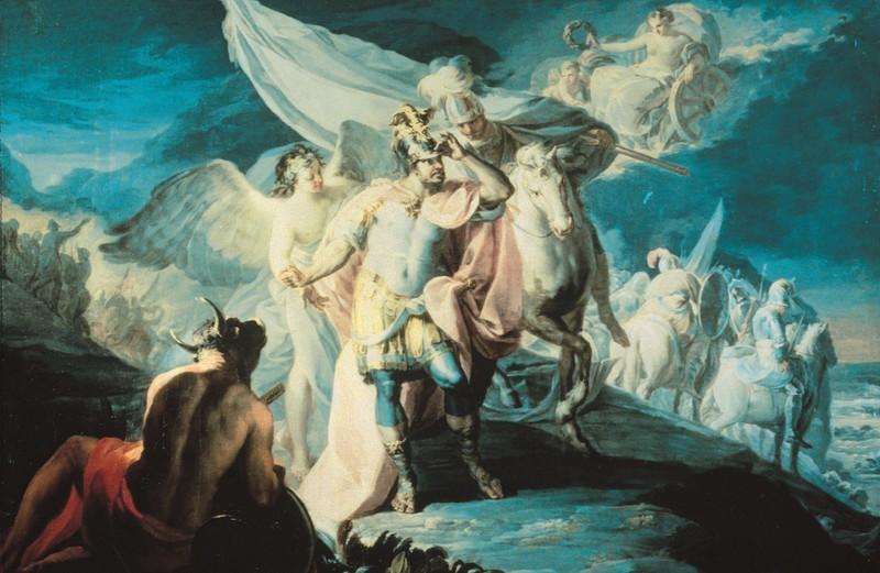Aníbal vencedor, que por primera vez miró Italia desde los Alpes (boceto 2)