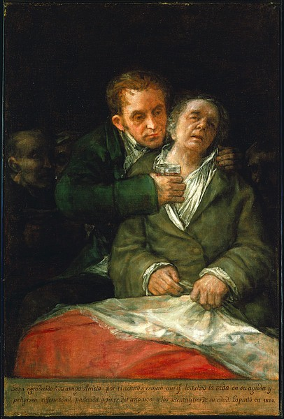 Goya a su médico Arrieta
