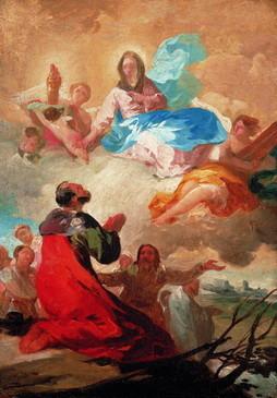 Venida de la Virgen del Pilar a Zaragoza (boceto)