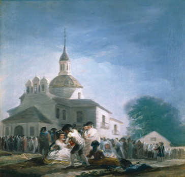 La ermita de San Isidro el día de la fiesta (boceto)
