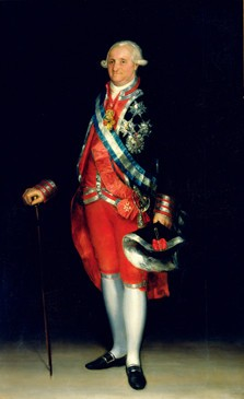 Carlos IV con uniforme de coronel de los Guardias de Corps