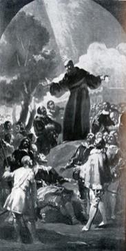 Predicación de San Bernardino de Siena (boceto 1)