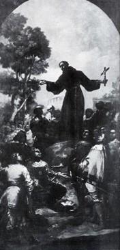 Predicación de San Bernardino de Siena (boceto 3 o reducción)