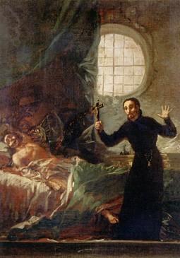 San Francisco de Borja asistiendo a un moribundo (boceto)