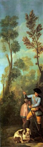 Cazador cargando su escopeta