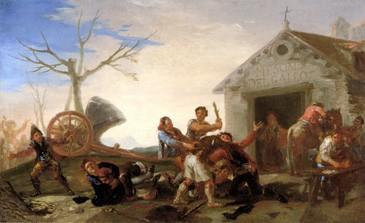 La riña en el Mesón del Gallo (boceto)