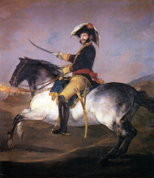 El general Palafox a caballo