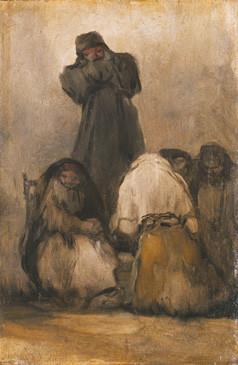 A Monk Preaching (Fraile predicando)