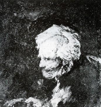 Busto de un viejo mendigo