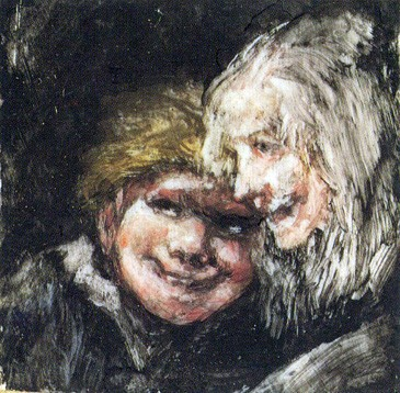 Heads of a Boy and an Old Woman (Cabezas de niño y vieja)